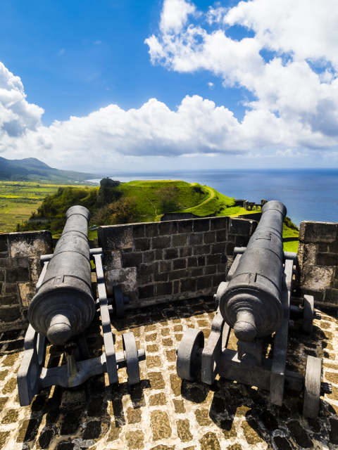 Old cannon Brimstone Hill Fortress St Kitts