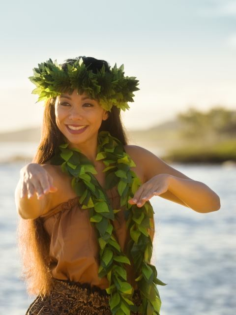 Hula Dancer on beach