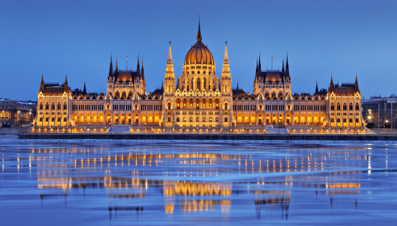 Parliament on Danube River Budapest