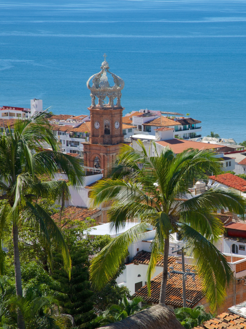 Puerto Vallarta Mexico with Our Lady of Guadalupe church