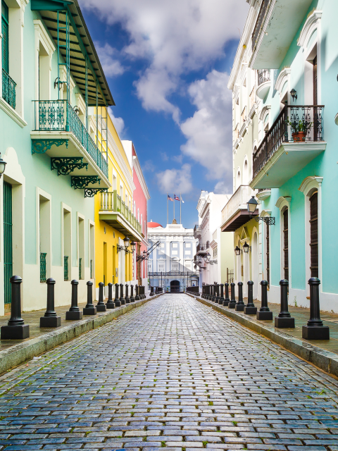 Street view of Santa Catalina Palace Old San Juan