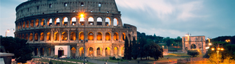 Roman Colosseum at Night      GettyImages-568886413
