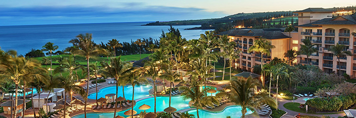 The Ritz Carlton Kapalua Aerial View with Pool and Ocean.   MDAM ID: 50518066