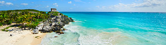 Tulum Beach with Mayan Ruins   GettyImages-149260679