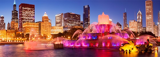 Chicago Buckingham Fountain in Grant Park