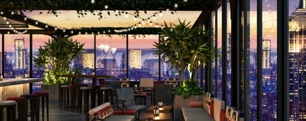 Magic Hour Rooftop Bar and Lounge MOXY NYC Times Square