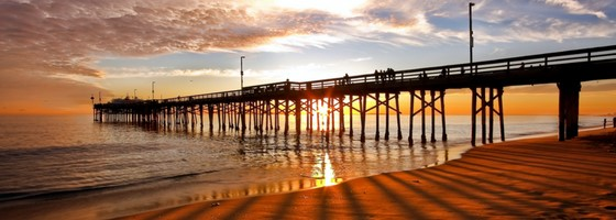 Newport Beach Pier at Sunset California
