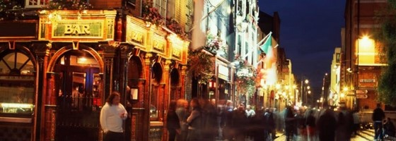 Temple Bar Street Scene Dublin Ireland